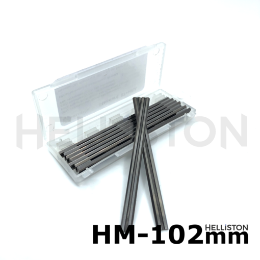 HM/ TCT Planer knives, Reversible blades 102 mm, hard metal (Tungsten carbide), double-sided, for electrical planers, AEG, Atlas-Copco EH102, HB750, HBE800, B39 etc