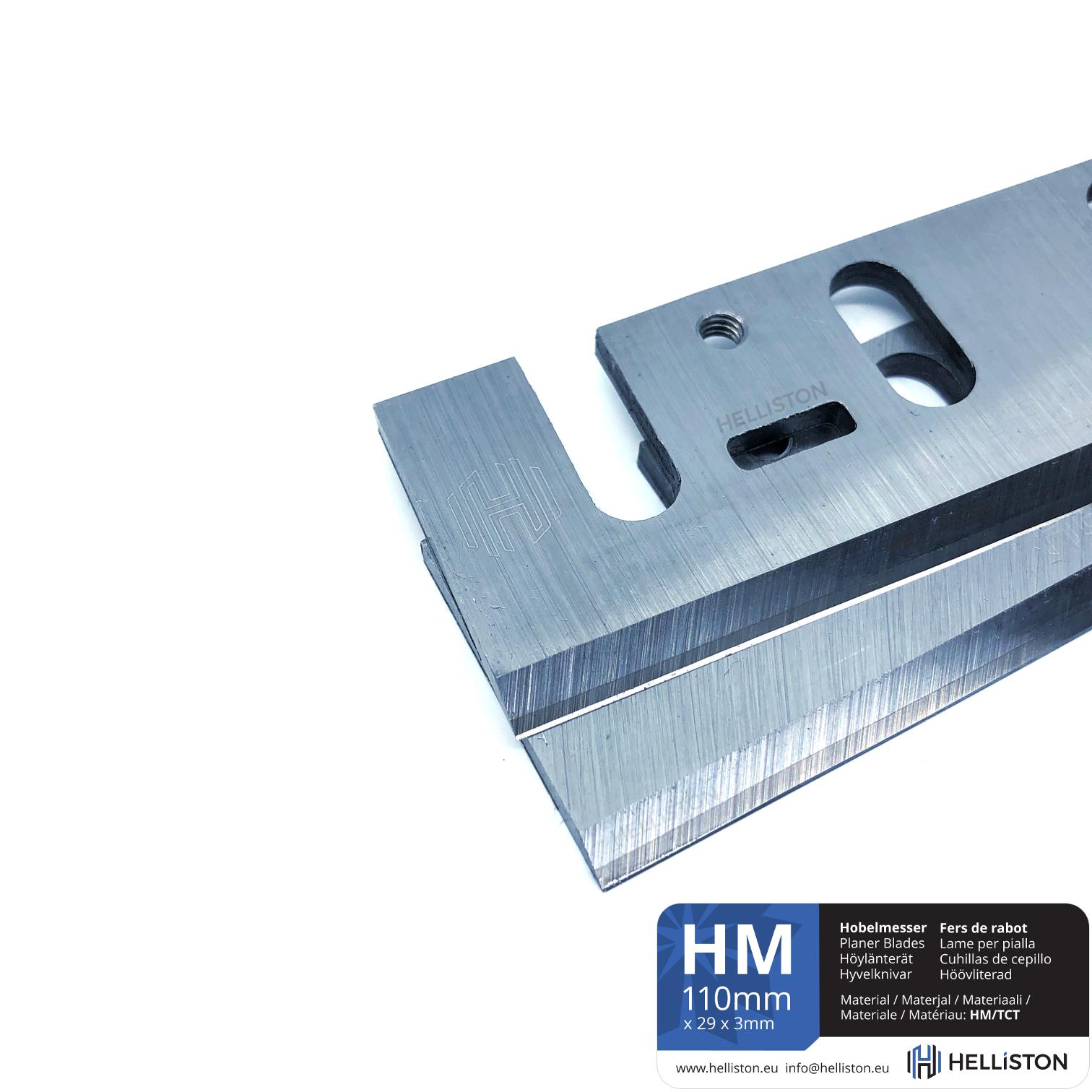 HM Planer Blades 110mm, 2 pc (for Makita 1911B, 1002BA)